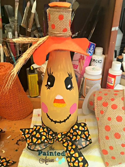 The Painted Apron Burlap Felt Wheat Scarecrow Hat